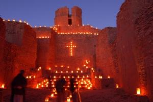 farolitos_old_church_jemez_state_monument